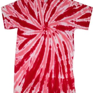 Ruby Red Twist Tie-Dye T-Shirts