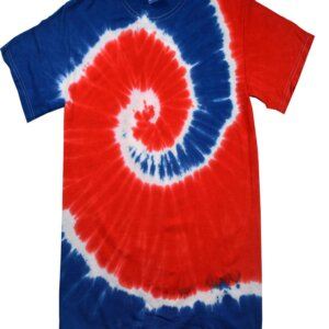 Red Blue Tie-Dye T-Shirts Kids