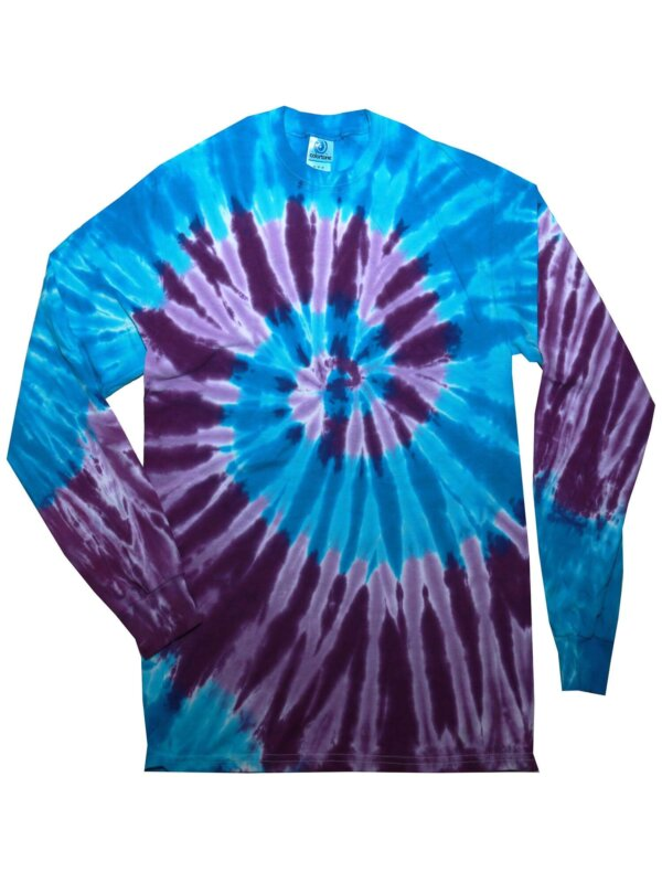 Blue Purple Tie-Dye Long Sleeve Shirts