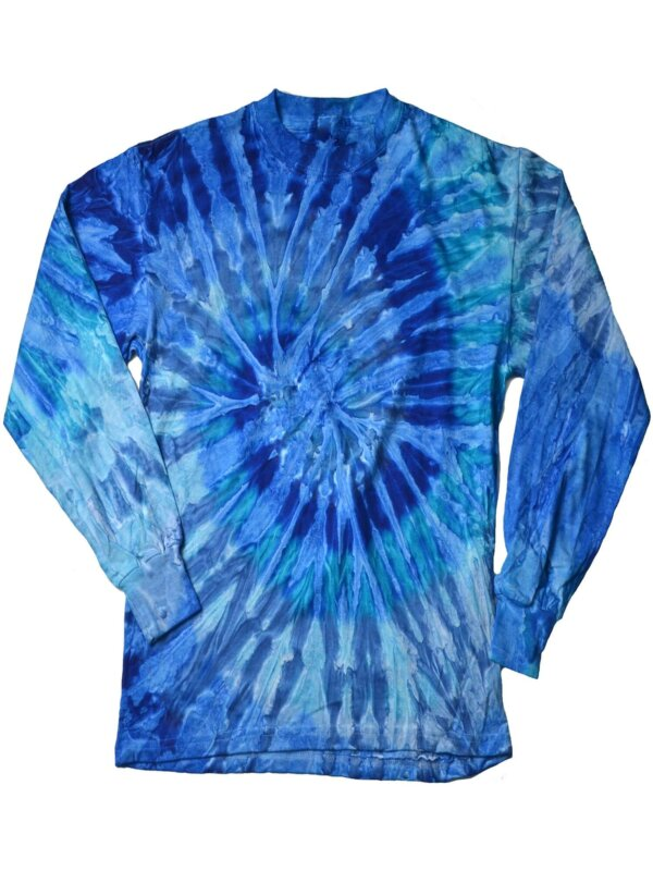 Jerry Blue Tie-Dye Long Sleeve Shirts