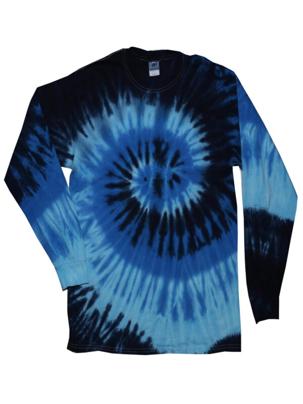 Blue Ocean Tie-Dye Long Sleeve Shirts