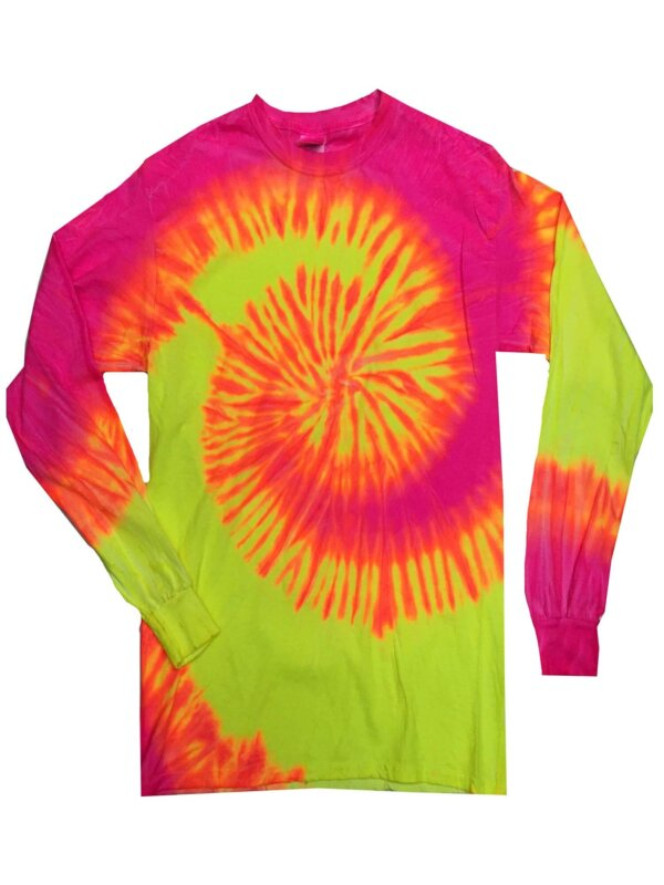 Fluorescent Tie-Dye Long Sleeve Shirts