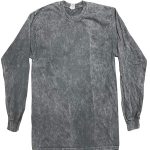 Grey Vintage Mineral Wash Long Sleeve Shirts