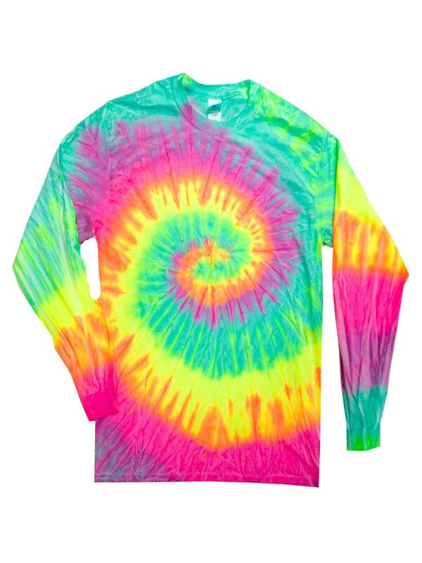 Minty Tie-Dye Long Sleeve Shirts