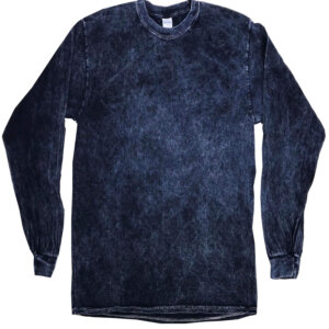 Navy Vintage Mineral Wash Long Sleeve Shirts