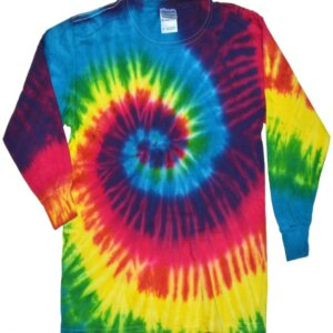 Reactive Rainbow Tie-Dye Long Sleeve Shirts