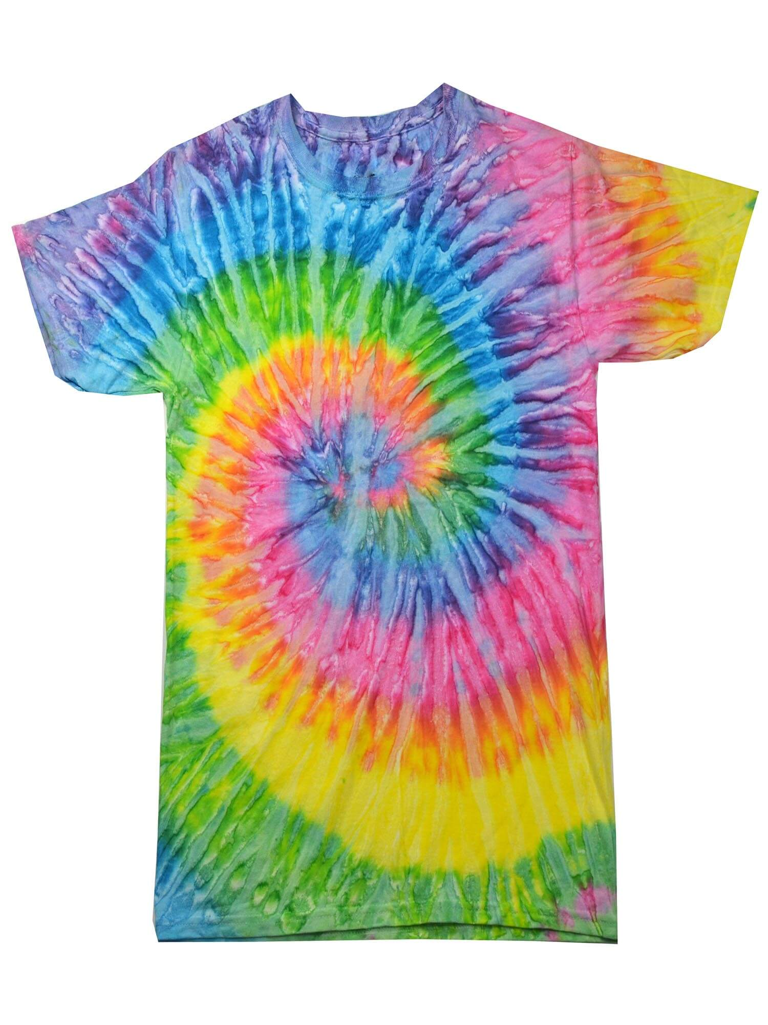 Youth L 14-16 Youth XS Tie Dye T-Shirts 100/% Cotton Multi-Color Rainbow