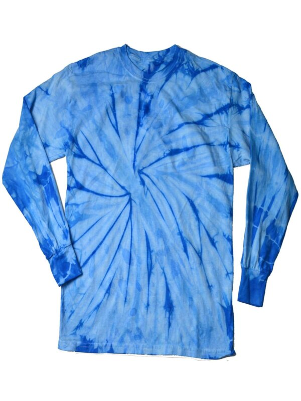 Baby Blue Tie-Dye Long Sleeve Shirts