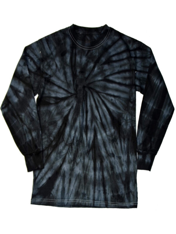 Black Spider Tie-Dye Long Sleeve Shirts