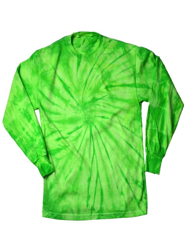 Lime Spider Tie-Dye Long Sleeve Shirts