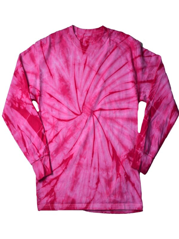 Pink Spider Tie-Dye Long Sleeve Shirts