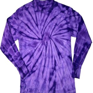 Purple Spider Tie-Dye Long Sleeve Shirts