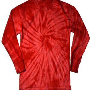 Red Tie-Dye Long Sleeve Shirts