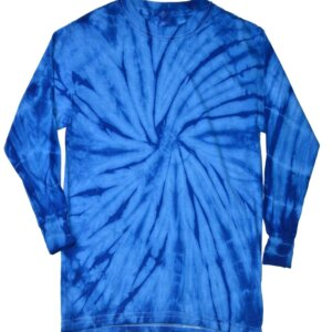 Blue Tie-Dye Long Sleeve Shirts