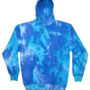 Blue Mix Tie-Dye Hoodies