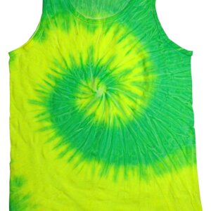 Yellow Lime Tie-Dye Tank Tops