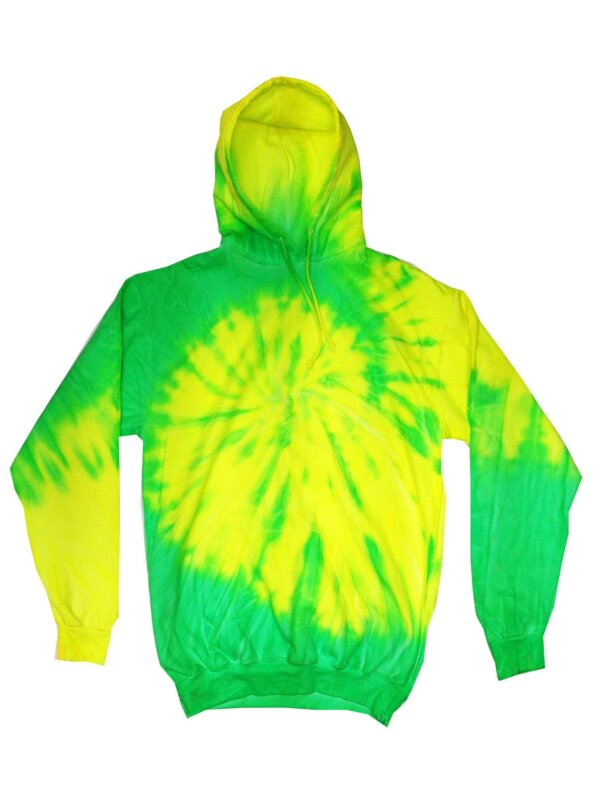 Flo Yellow Lime Tie-Dye Hoodies