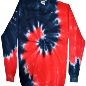 Royal Red Tie-Dye Crew Neck Sweatshirt