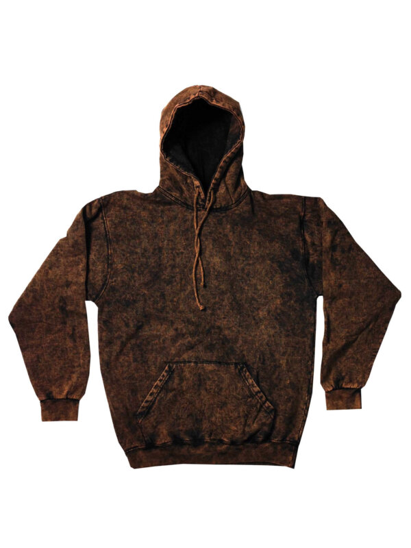 Brown Vintage Mineral Wash Hoodies