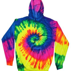 Bright Rainbow Tie-Dye Hoodies