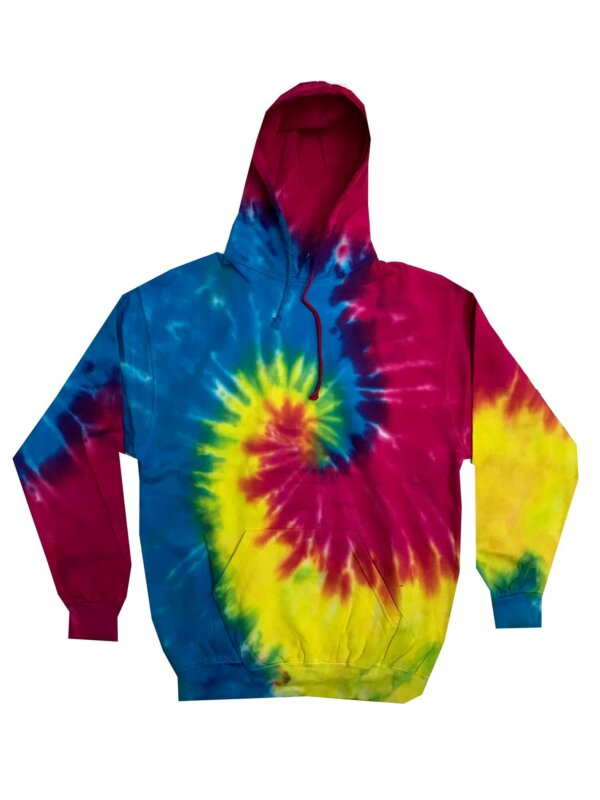 Reactive Rainbow Tie-Dye Hoodies