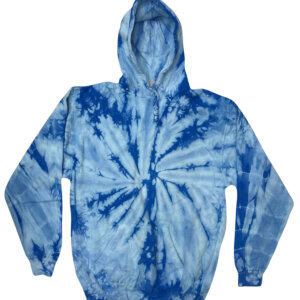Light Blue Tie-Dye Hoodies