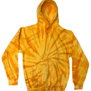 Spider Yellow Tie-Dye Hoodies
