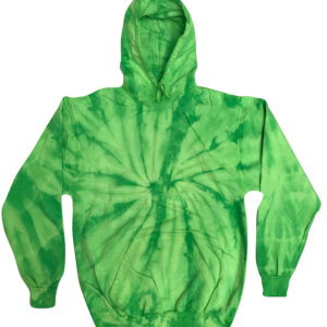 Spider Lime Tie-Dye Hoodies