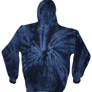 Spider Navy Blue Tie-Dye Hoodies