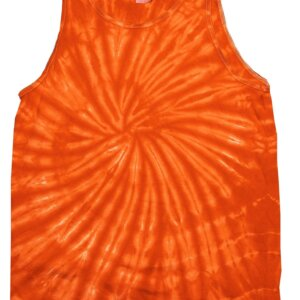 Orange Tie-Dye Tank Tops