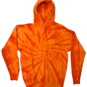 Spider Orange Tie-Dye Hoodies
