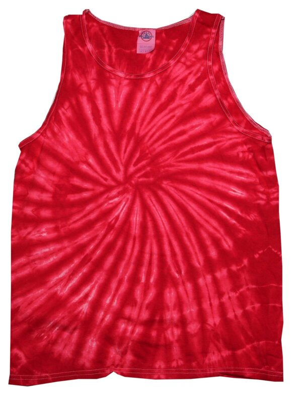 Red Tie-Dye Tank Tops
