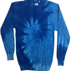 Blue Tie-Dye Crew Neck Sweatshirt